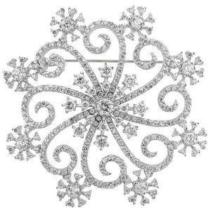 Snowflake Brooch - Jewelry Xoxo