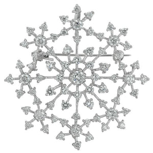Delicate Snowflake Brooch - Jewelry Xoxo