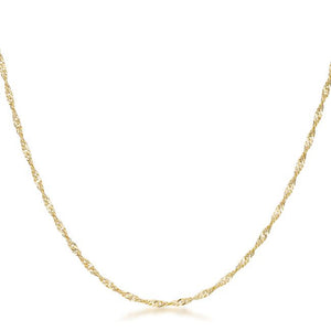 16 Inch Gold Twisted Fashion Chain - Jewelry Xoxo