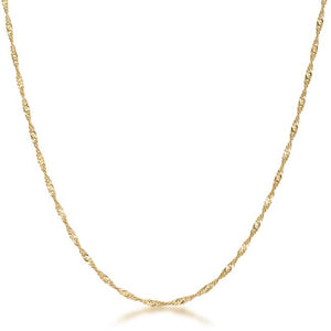 18 Inch Gold Twisted Chain - Jewelry Xoxo
