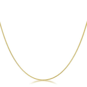 18 Inch Golden Snake Chain - Jewelry Xoxo