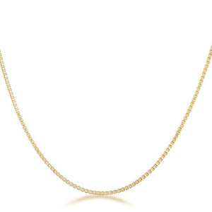 Golden Rolo Chain - 1mm - Jewelry Xoxo