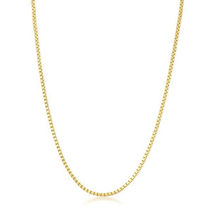 Golden Rolo Chain - 2mm - Jewelry Xoxo