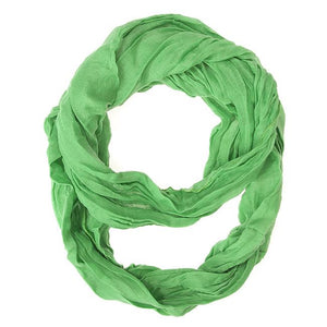 Light Green Genevieve Infinity Scarf - Jewelry Xoxo