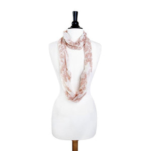 Mixology Peach Infinity Scarf - Jewelry Xoxo