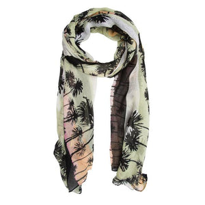 Green Bonnie Tropical Scarf - Jewelry Xoxo