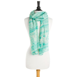 Michelle Scarf in Mint - Jewelry Xoxo
