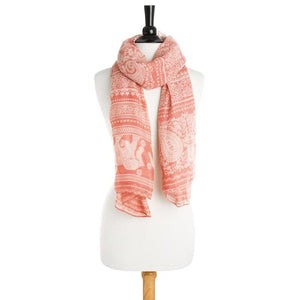Michelle Scarf in Peach - Jewelry Xoxo
