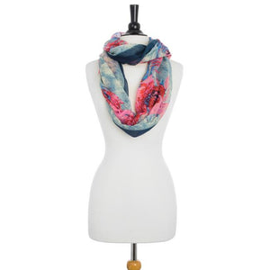 Farrah Multicolor Floral Print Infinity Scarf - Jewelry Xoxo