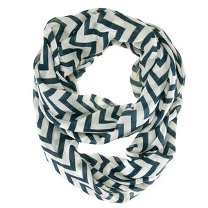 Striped Green Infinity Scarf - Jewelry Xoxo