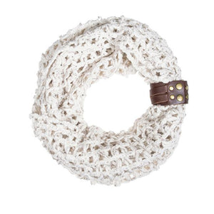 Off White Sonia Crochet Cowl Scarf - Jewelry Xoxo