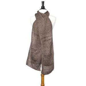 Taupe Hanna Knitted Pocket Scarf - Jewelry Xoxo