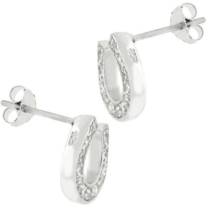 Horseshoe Stud Earrings - Jewelry Xoxo