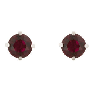 Ruby Cubic Zirconia Studded Earrings - Jewelry Xoxo