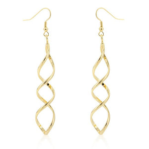 Golden Twist Earrings - Jewelry Xoxo