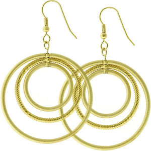 Golden Illusion Hoop Earrings - Jewelry Xoxo