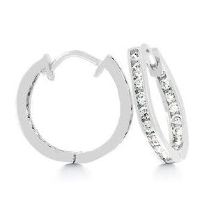 19 mm Silvertone Inside Out Hoops - Jewelry Xoxo
