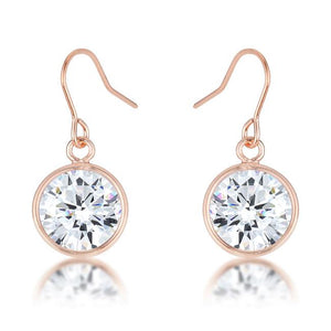 5.5 Ct Rose Gold CZ Drop Earrings - Jewelry Xoxo