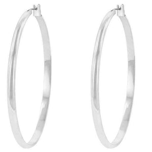 Classic Hoop (Rhodium Plated) - Jewelry Xoxo