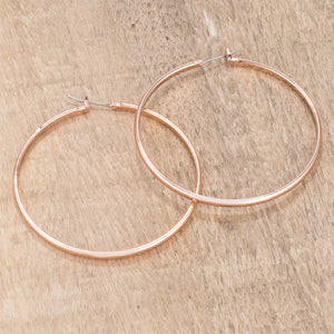 55mm Rose Gold Plated Classic Hoop Earrings - Jewelry Xoxo
