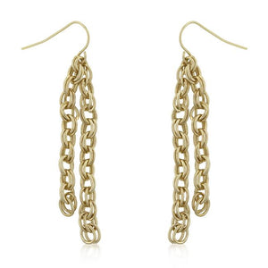 Rolo Chain Dangle Earrings - Jewelry Xoxo