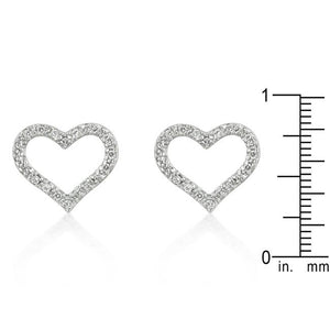 Open Heart Cubic Zirconia Earrings - Jewelry Xoxo