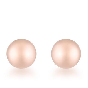 Tanya Rose Gold Sphere Stud Earrings - Jewelry Xoxo