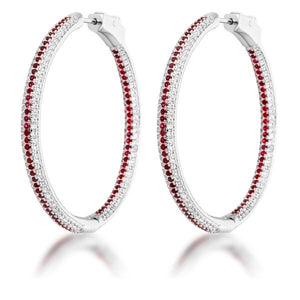 Red Micro Pave CZ Hoops - Jewelry Xoxo