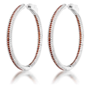 Orange Micro Pave CZ Hoops - Jewelry Xoxo