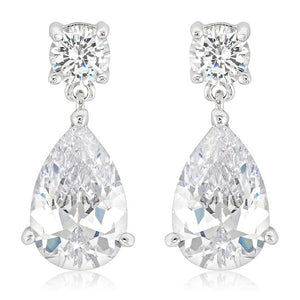Elegant Cubic Zirconia Drop Earrings - Jewelry Xoxo