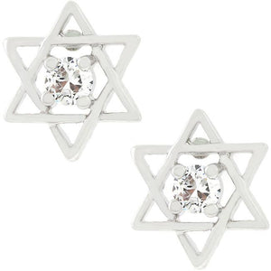 Star of David Stud Earrings - Jewelry Xoxo