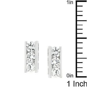 Cubic Zirconia Slate Stud Earrings - Jewelry Xoxo