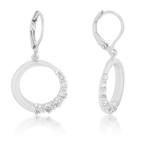 Graduated Cubic Zirconia Circle Earrings - Jewelry Xoxo