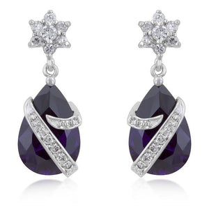 Royal Wrapped Amethyst Earrings - Jewelry Xoxo