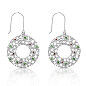 Red and Green Earrings - Jewelry Xoxo