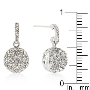 CZ Ball Dangle Earrings - Jewelry Xoxo