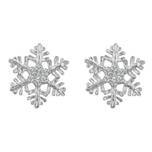 Snowflake Stud Earrings - Jewelry Xoxo