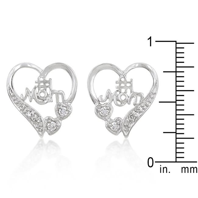 #1 Mom Heart Earrings - Jewelry Xoxo
