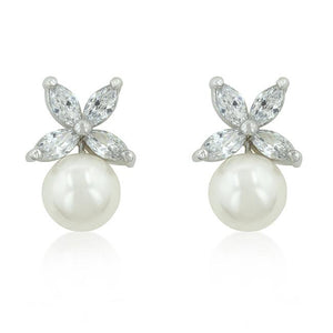 Butterfly Pearl Stud Earrings - Jewelry Xoxo