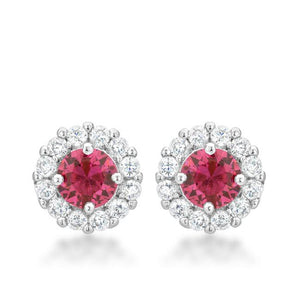 Bella Bridal Earrings in Pink - Jewelry Xoxo
