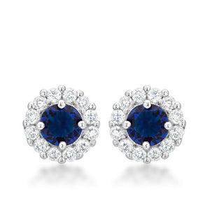 Bella Bridal Earrings in Blue - Jewelry Xoxo