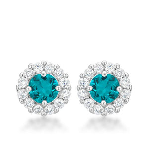 Bella Bridal Earrings in Aqua - Jewelry Xoxo