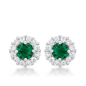 Bella Bridal Earrings in Green - Jewelry Xoxo