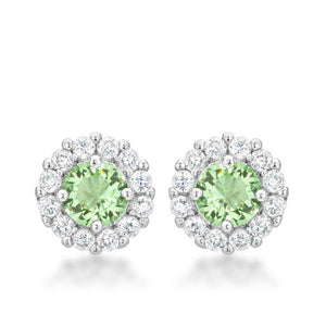 Bella Bridal Earrings in Peridot - Jewelry Xoxo