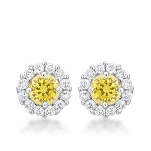Bella Bridal Earrings in Yellow - Jewelry Xoxo