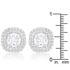 Cushion Pave Stud Earrings - Jewelry Xoxo