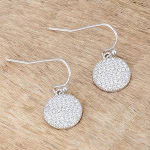 .6 Ct Elegant CZ Disk Earrings - Jewelry Xoxo