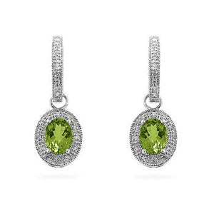 Peridot Dangles in White Gold - Jewelry Xoxo