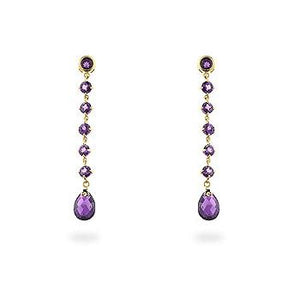 Amethyst Briolette Earrings - Jewelry Xoxo