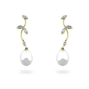 Pearl & Diamond Earrings - Jewelry Xoxo